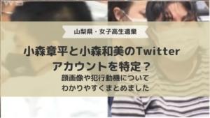 小森章平と小森和美のTwitterアカウントを特定?顔画像や犯行動機についてわかりやすくまとめました